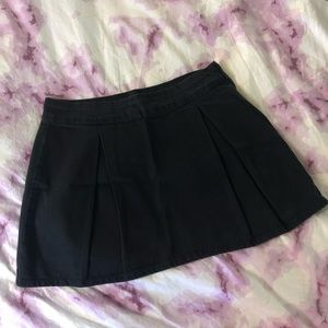 Zara mini black denim skirt